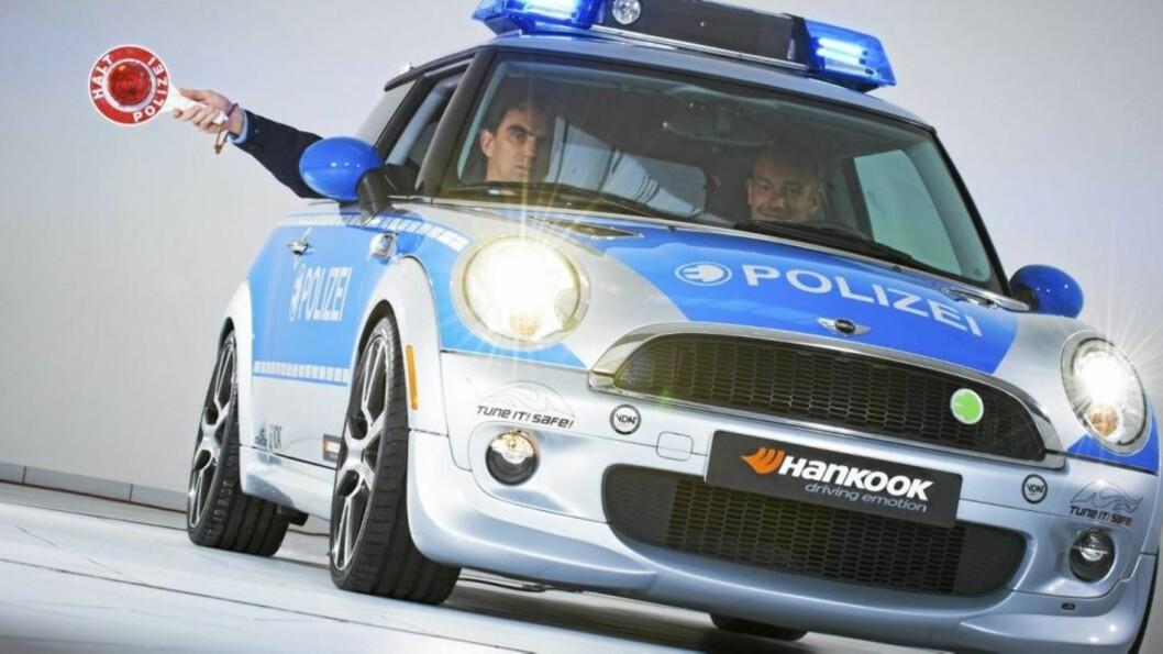 EL-BIL: En politibil i miljøets tegn. Foto: AC Schnitzer