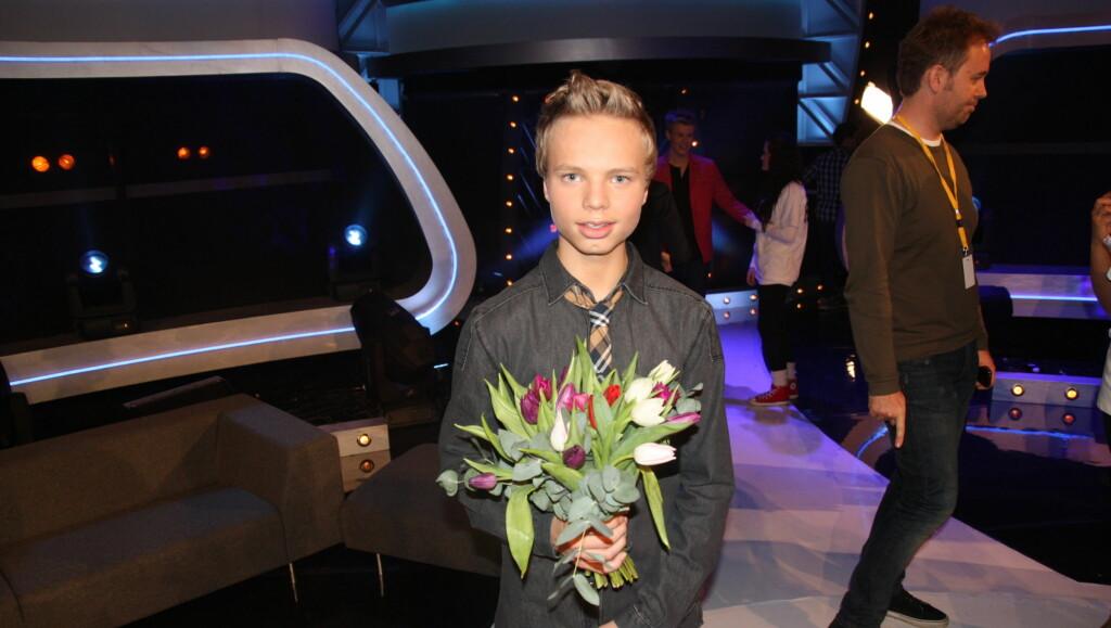 UTE AV IDOL: Fredag røk Isak Knutsen Heim ut av Idol. Han er godt fornøyd med å bli nummer tre i talentprogrammet.  Foto: Thomas Horni/Seher.no