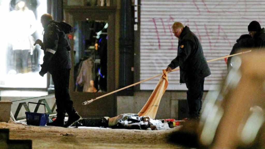SELVMORDSBOMBER: En 28 år gammel tobarnsfar sprengte seg selv i Stockholm sentrum. Ingen andre enn selvmordsbomberen selv ble drept. Foto: Scanpix