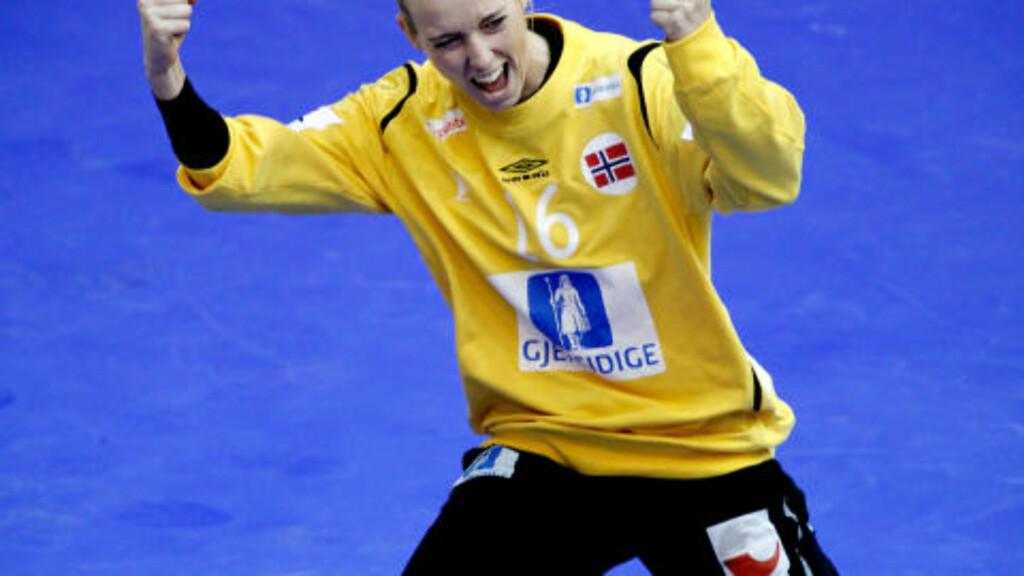 OUTSTANDING: Også Katrine Lunde Haraldsen har gjort inntrykk på herrespillerne. Foto: Bjørn Langsem / Dagbladet.