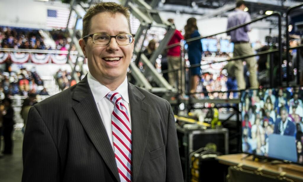 OPTIMIST: Steven Schale har ledet valgkamper for Barack Obama i Florida. Han tror Hillary Clinton vil vinne solskinnsstaten i år. Foto: Trym Mogen / Dagbladet
