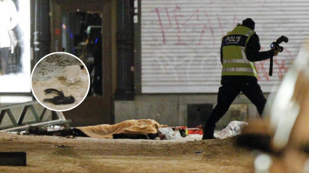 BRUKTE HAN WALKIE-TALKIE? Utstyret som er innringet ble funnet ved siden av liket av Taimour Abdulwahab. Foto: Scanpix/Expressen