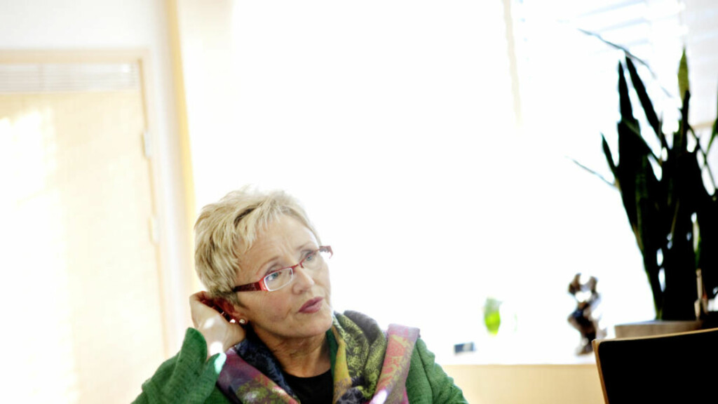 Liv Signe Navarsete, leder i Senterpartiet ( Sp ), fotografert på hennes kontor. Foto: Torbjørn Grønning / Dagbladet