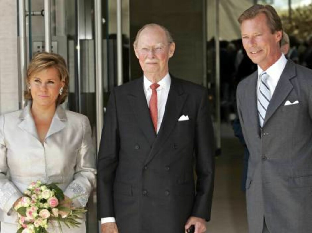 Grand Duke Jean attends the SIlver Wedding Anniversary Celebrations of Grand Duke Henri & Grand Duchess Maria-Theresa of Luxembourg. Lunch & reception at the Museum of Art. Picture: UK Press Foto: All Over Press