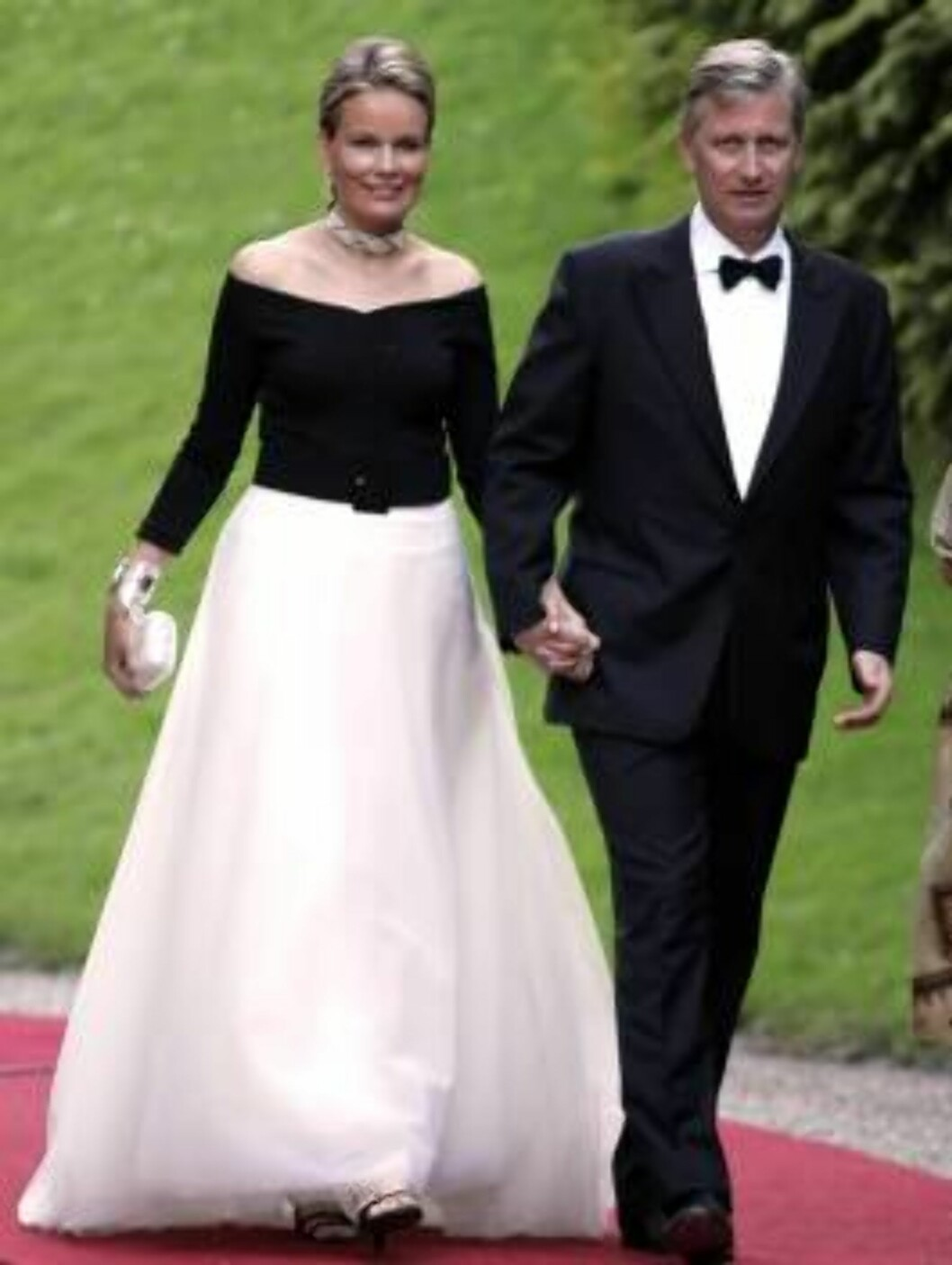 Crown Prince Philippe & Crown Princess Mathilde of Belgium attend the SIlver Wedding Anniversary Celebrations of Grand Duke Henri & Grand Duchess Maria-Theresa of Luxembourg. Gala Dinner at the Chateau de Berg. Picture: UK Press Foto: All Over Press