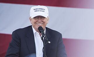 OUTSIDER: Donald Trump er ikke favoitt dagen før valget, men han kan fortsatt vinne. Foto: Øistein Norum Monsen / Dagbladet