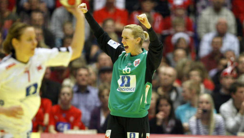 VANT KEEPERDUELLEN: Det var ingen tvil om at Katrine Lunde Haraldsen vant keeperduellen mot Karin Mortensen og Cecilie Pedersen. Foto: GORM KALLESTAD/SCANPIX