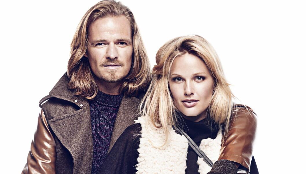 MODELLPAR: Maria Skappel og ektemannen Andreas Holzweiler poserer i H&M høstmote.