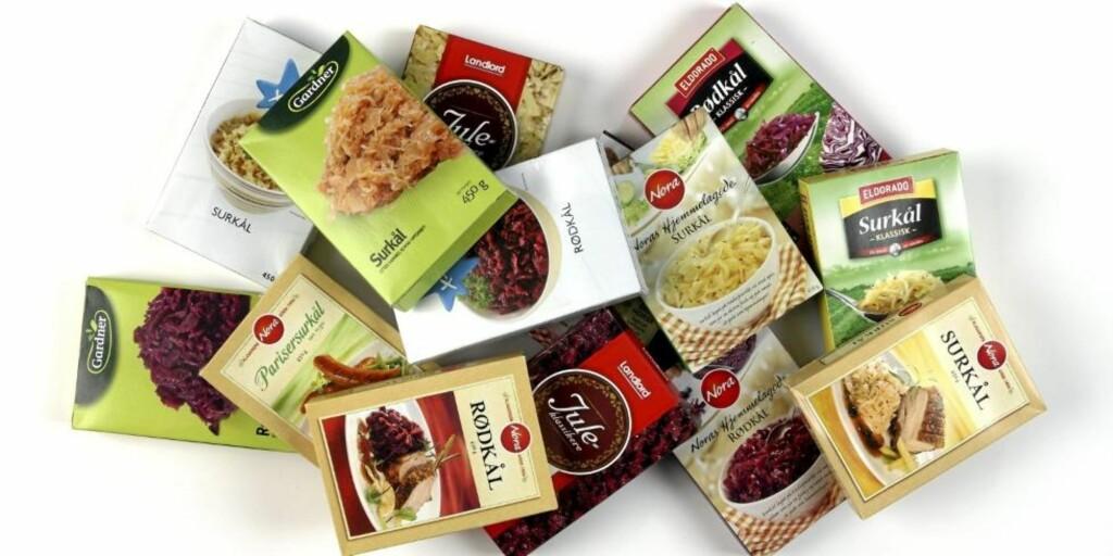TEST: DinKost.no har vurdert næringsinnholdet i 14 kålprodukter til julemiddagen. Foto: Petter Berg, HM Foto