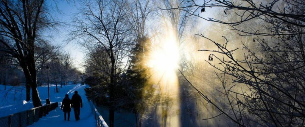 HVIT JUL: Meteorologene lover hvit jul i det meste av landet i år. Foto: Håkon Eikesdal