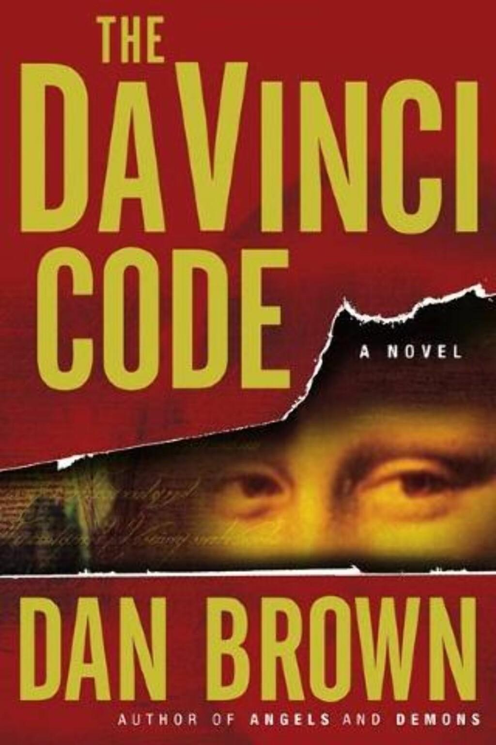 DA VINCI-KODEN: Deler av Kryptos-koden er svakt antydet på den amerikanske utgaven av Da Vinci-koden.