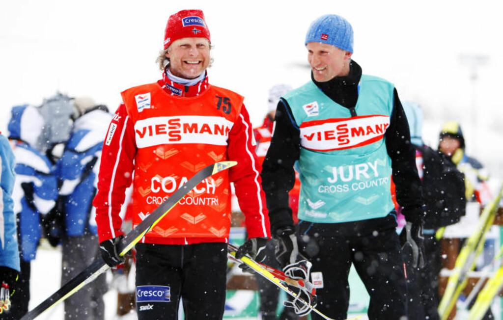 KRITISERTE LEDELSEN_ Vegard Ulvang (t.h) sier at det er sportssjef Åge Skinstad (t.v) og ledelsen på skilandslaget han klander for La Clusaz-bråket. Arkivfoto: Håkon Mosvold Larsen / SCANPIX