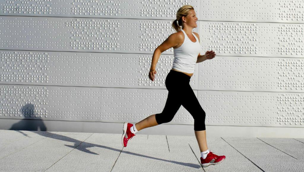 ØKER DET GODE KOLESTEROLET:  Å trene utholdenhet er et av de tiltakene som øker nivået av HDL-kolesterol i blodet. Foto: AGNETE BRUN