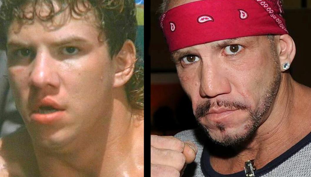 FILMSTJERNE OG TUNGVEKTSMESTER: Morrison fikk rollen som Tommy Gunn i Rocky V, som kom i 1990. Tre år senere vant han sitt første tungvektsbelte.