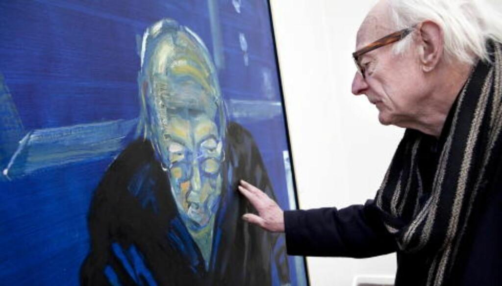 ARNE NORDHEIM: Et portrett av vennen og komponisten Arne Nordheim ble stjålet for tre dager siden.  Foto: Ole Morten Melgård / Dagbladet