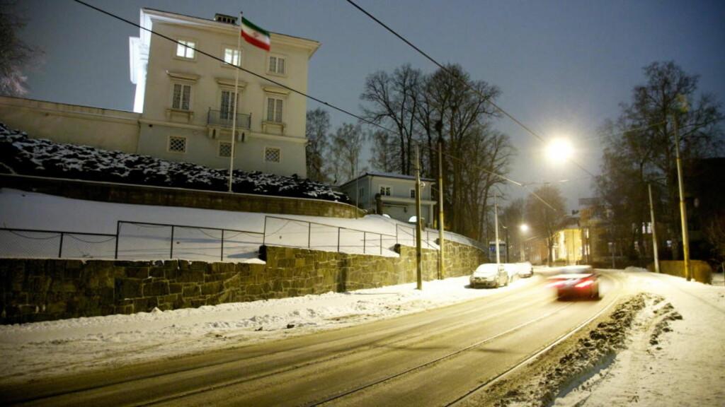 IRANS AMBASSADE I OSLO: Diplomater herfra skal ifølge Dagbladets kilder ha overvåket og spionert på amerikanerne i 2002. Foto: Eirik Helland Urke