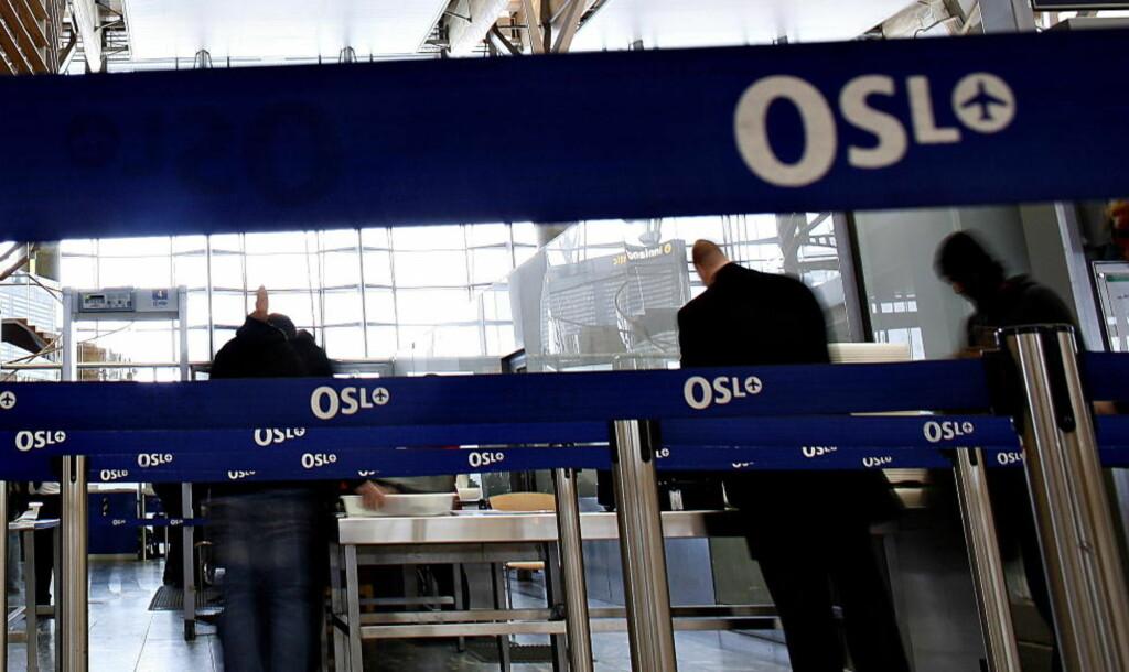 INGEN TUR TIL EGYPT: Mannen kom forbi sikkerhetskontrollen, men kom seg aldri om bord på flyet til Egypt sammen med familien. Foto: OLE C. H. THOMASSEN/Dagbladet