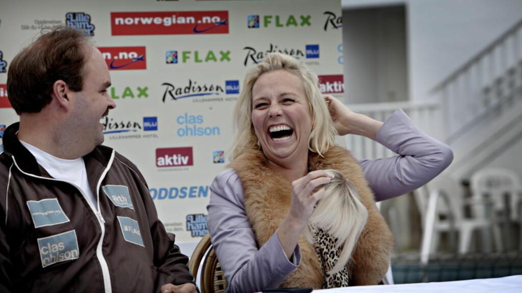 KINOKLAR: Høsten 2011 er «Kong Curling», med blant andre Atle Antonsen og Linn Skåber i hovedrollene, klar for norske kinolerreter. Foto: Lars Eivind Bones