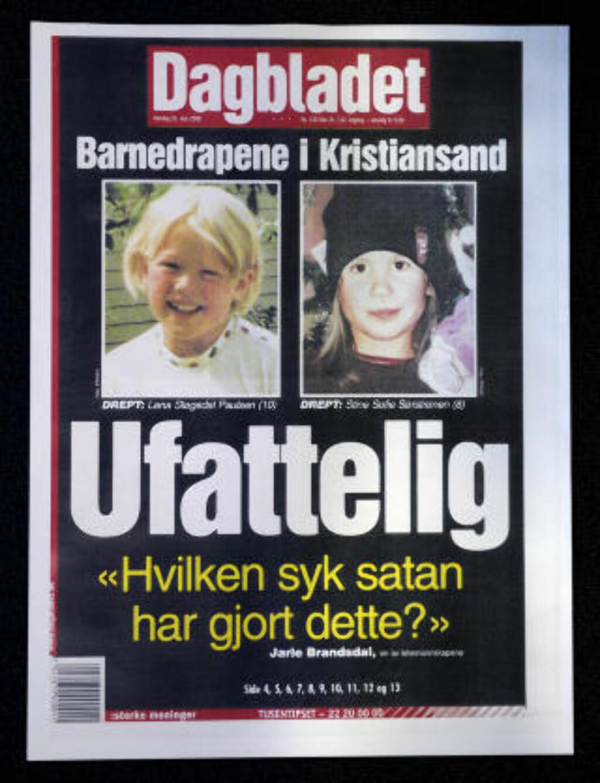 SJOKKERTE NORGE: Baneheia-drapene rystet Norge i mai 2000. Mens saken pågikk, dro Grenlands-mannen til nettopp Baneheia og snikfotograferte nakne småbarn. Faksimile: Dagbladet 22. MAI 2000