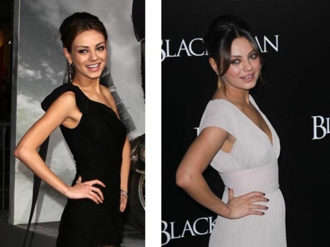 GIKK OPP: Etter at Mila Kunis la på seg kiloene hun gikk ned i forbindelse med Black Swan-innspillingen i 2010, har hun blitt kåret av FHM og Esquire til «verdens mest sexy dame» to år på rad. Foto: Stella Pictures