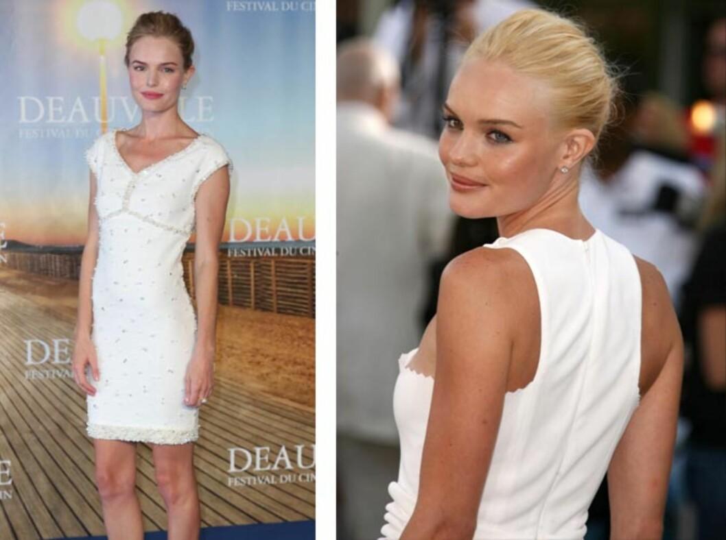 FAMILIEPROBLEMER: Skuespiller Kate Bosworth har fortalt til magasinet Vogue at sykdom i familien gjorde at hun i 2008 gikk ned flere kilo. Bildet til høyre er tatt i 2006. Foto: Stella Pictures
