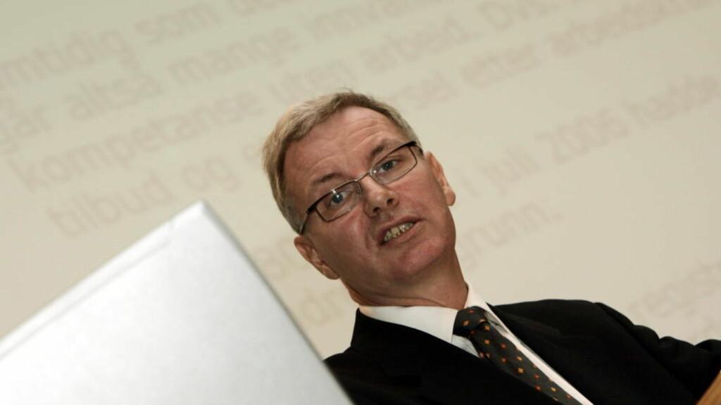 SPENT: Statssekretær i Arbeidsdepartementet, Jan-Erik Støstad, er spent på hvor mange som benytter seg av mulighetene til å ta ut førtidspensjon fra fylte 62 år. Foto: Morten Holm / SCANPIX .