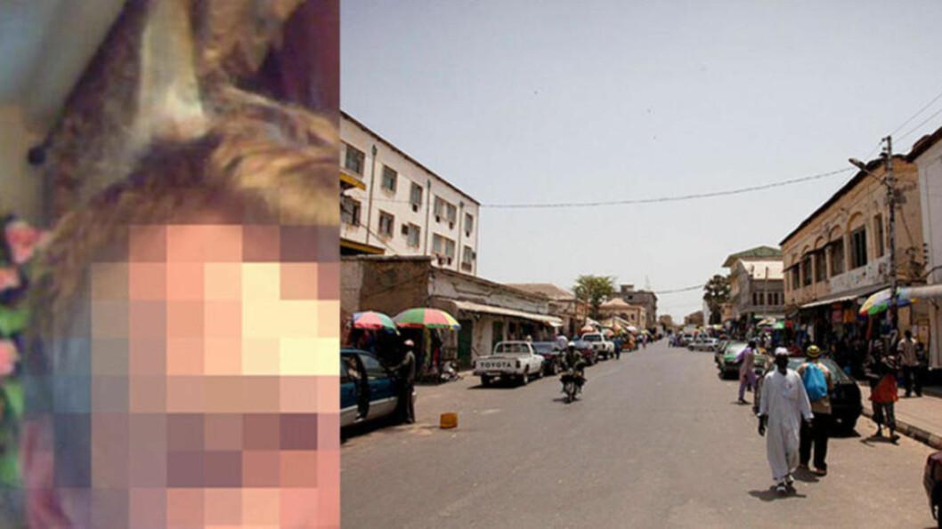 TATT I GAMBIA: En overgrepsdømt nordmann (45) ble pågrepet av gambisk politi. Foto: PRIVAT, DEMIANPZ/CREATIVECOMMONS