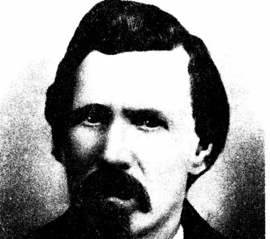 DREPT: Sherriff i Lincoln County, William J. Brady, ble drept av Billy the Kid og gjengen hans 1. april 1878. Nå kan Billy the Kid bli benådet for drapet.Foto: Wikimedia commons