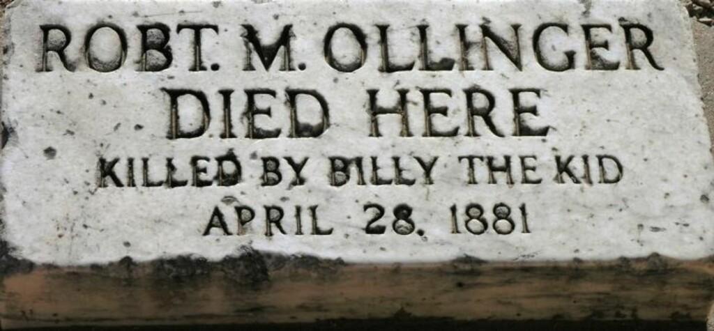DREPT UNDER RØMNING: Historikere strides om hvor mange Billy the Kid rakk å drepe i løpet av sitt korte liv. Fengselsvakten Bob Ollinger ble drept etter at Billy the Kid fikk tak i hagla hans under rømningen fra fengsel 28. april 1881.