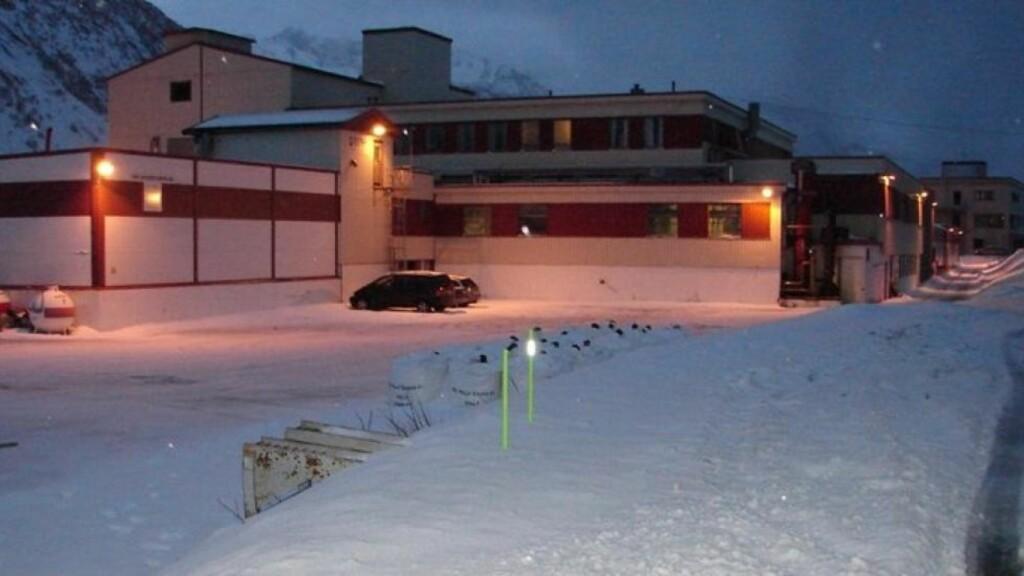 HER STO BILEN: Her, i en parkeringslomme like ved Gryllefjord fryseri, sto bilen hvor politiet fant den drepte kvinnen. Foto: Vegard Johansen/Nordlys