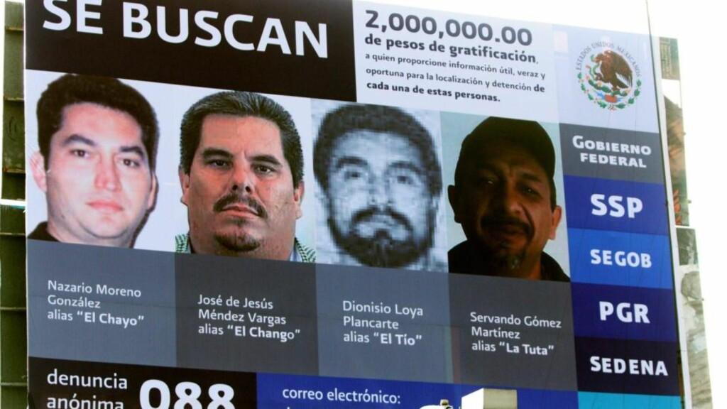 ETTERLYST: Slik ble fire av lederne i organisasjonen etterlyst i desember i fjor. Foto: EPA/STR/Scanpix