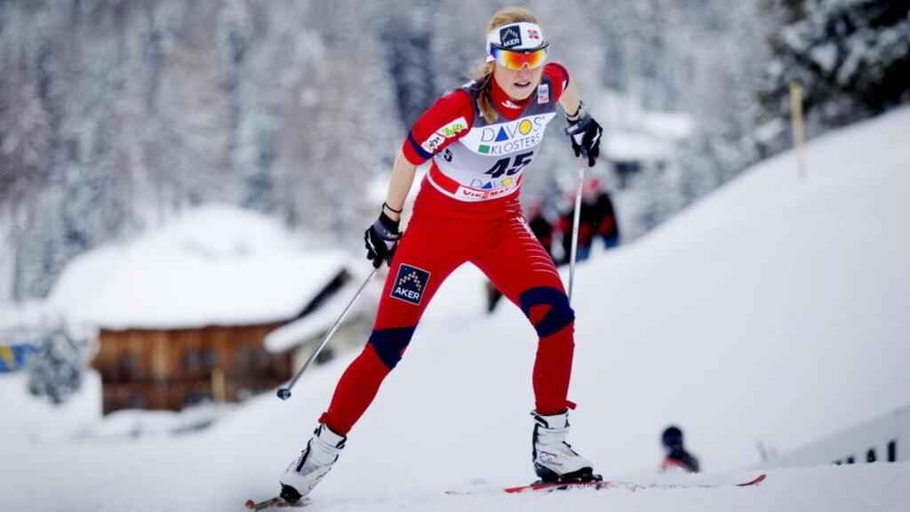 BEST AV DE NORSKE: Marthe Kristoffersen imponerte i spurten og kjempet seg til pallplass på kvinnenes skiathlom. Foto: Kyrre Lien / Scanpix
