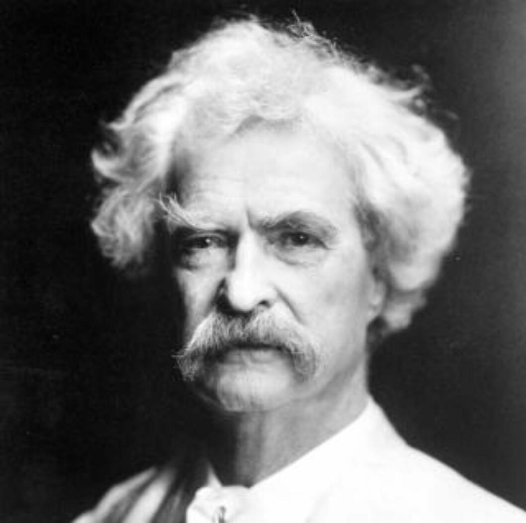 <strong>OMDISKUTERT:</strong> Mark Twain. Foto: SCANPIX/AP