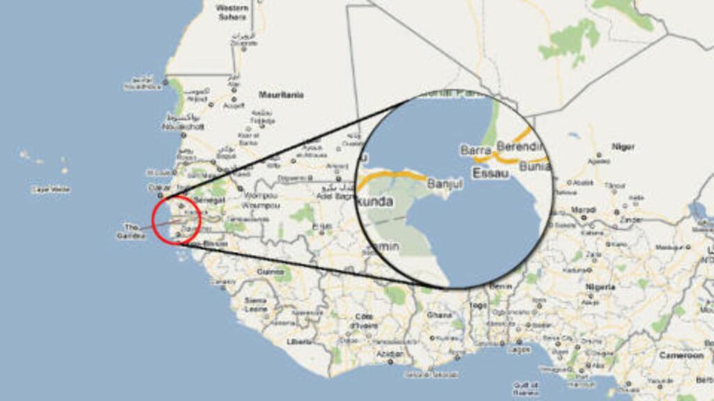 GAMBIA: Kart: Google Maps