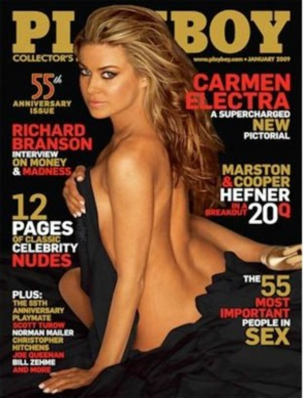 HOT: Carmen Electra har posert flere ganger for Playboy, skal ved én av anledningene ha fått 3 millioner. Denne utgaven er fra januar 2009. Foto: Faksimile