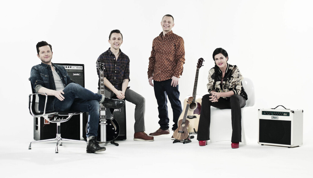 DOMMERE: Årets «The Voice»-dommere er Espen Lind, Sondre Lerche, Tommy Tee og Lene Nystrøm. Foto: TV 2