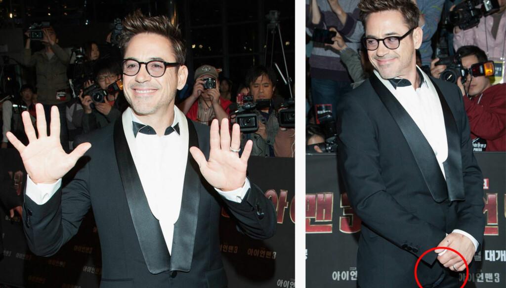OOPS: Robert Downey jr. dukket opp på den røde løperen i Sør-Korea med buksesmekken åpen. Foto: All Over