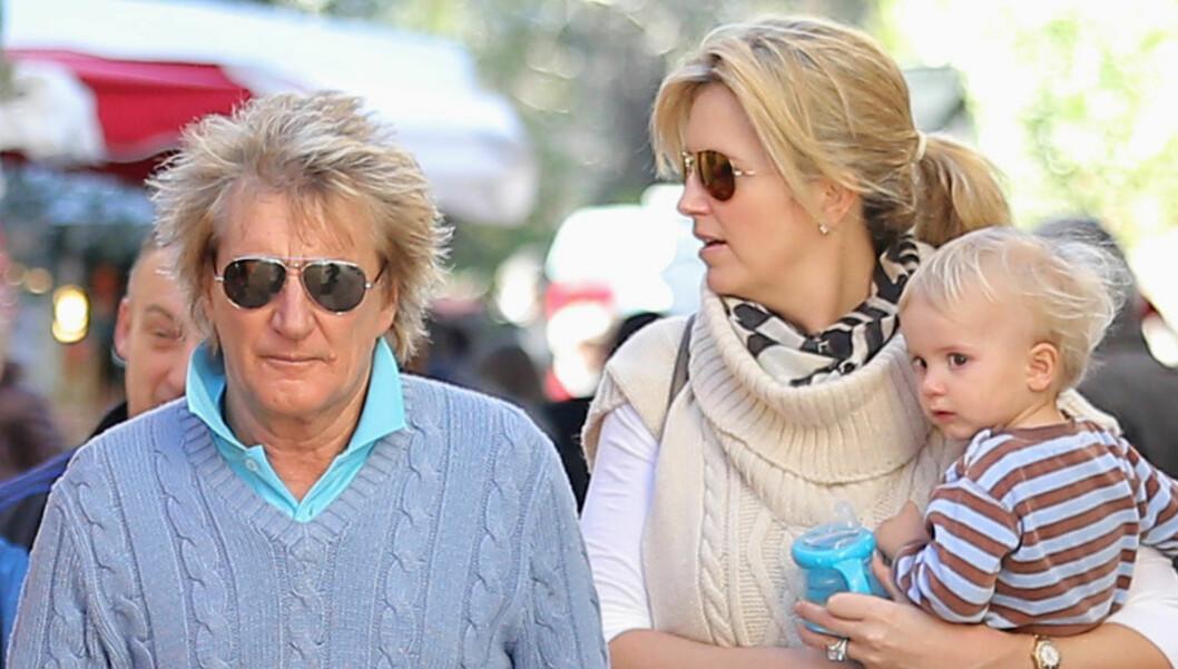 UKJENT DATTER: Rockestjernen Rod Stewart har siden 2008 jobbet med å bli gjenforent med datteren han adopterte bort, da han var 18 år gammel. Foto: FameFlynet