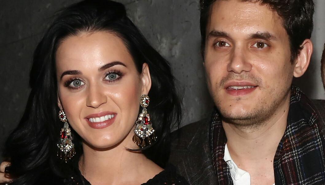 LYKKELIG FORELSKET: John Mayer og Katy Perry har prøvd å holde en lav profil med forholdet sitt, men nylig klarte ikke Mayer å skjule sin begestring for kjæresten og sa han han var veldig lykkelig. Foto: All Over Press