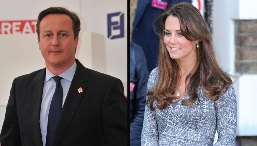 SLÅR TILBAKE: - Kate er en flott ambassadør for Storbritannia, sier statsminister David Cameron.