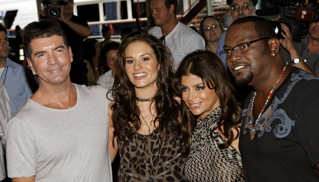 TV-FJES: Fra 2009 til 2010 var Kara DioGuardi dommer i «American Idol» sammen med Simon Cowell, Paula Abdul og Randy Jackson. Foto: AP