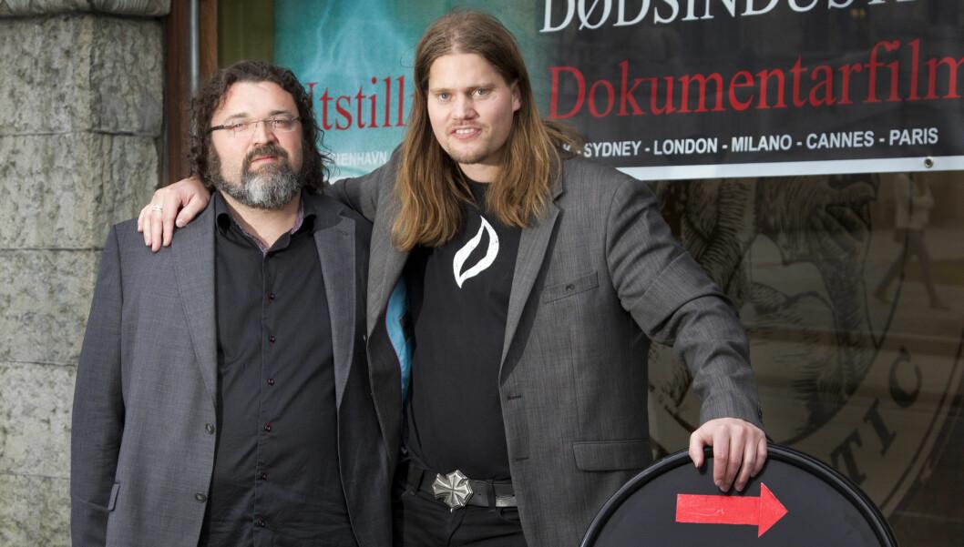 STÅR SAMMEN Hans Erik Dyvik Husby og Trygve Haug.