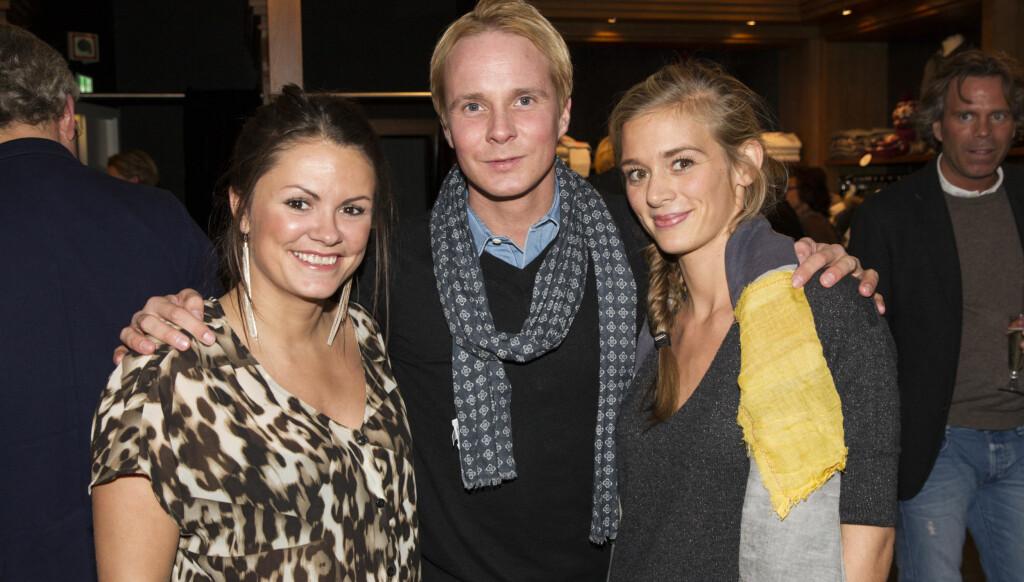 Petter Pilgaard går på butikkåpninger når han skal sjekke damer. Her med Linn Helsing (t.v.) som er ansvarlig for Guess i Norge og butikksjef hos Luun Ida Danielsson.