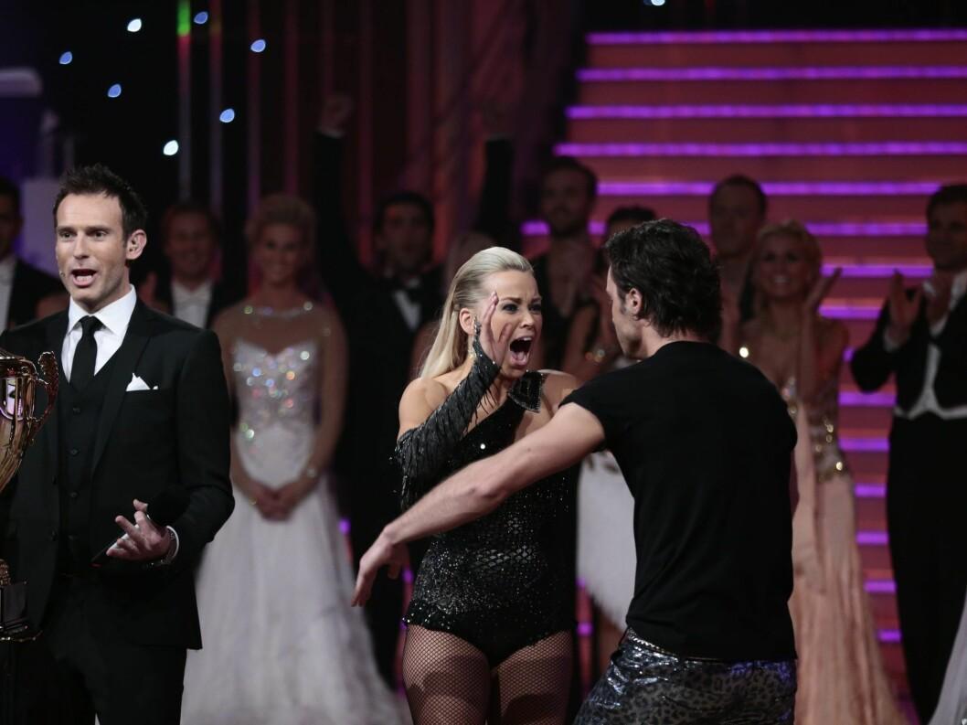 AVGJORT: Her finner Hanne Sørvaag ut at hun har vunnet.  Foto: NTB scanpix