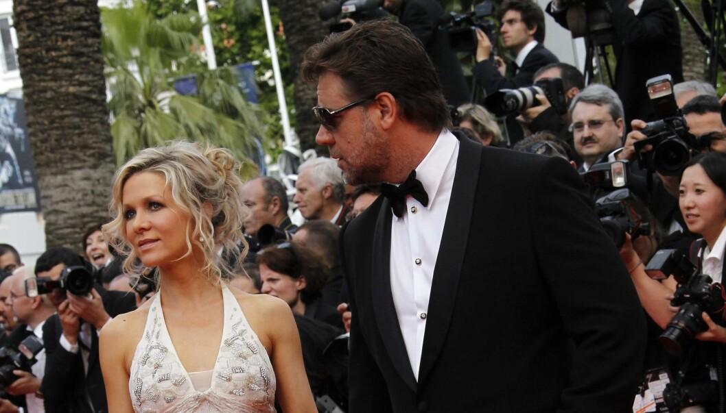 SLUTT: Russell Crowe og Danielle Spencer går fra hverandre etter ni år. Foto: All Over Press