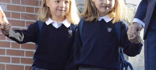 Prinsessenes første skoledag