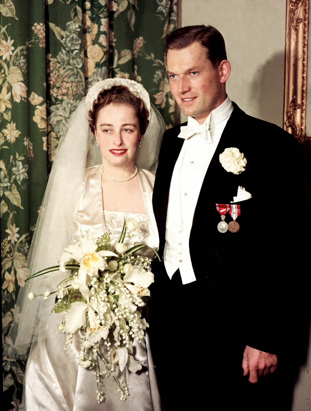 <strong>BRYLLUPET:</strong> Prinsesse Ragnhild gifter seg med skipsreder Erling Lorentzen 15. mai 1953. Prinsessen døde søndag i parets hjem i Rio de Janeiro, 82 år gammel.   Foto: NTB scanpix