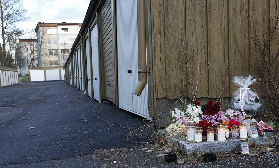DREPT VED GARASJEANLEGG: Catrine Røthe (42) ble drept utenfor et garasjeanlegg på Manglerud. Foto: Jacques Hvistendahl / Dagbladet