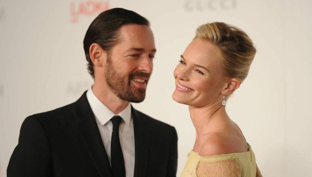 FORLOVET: Ryktene om et snarlig bryllup mellom Kate Bosworth og Michael Polish svirrer nå i Hollywood, etter at hun nylig kalte ham for sin forlovede. Foto: All Over Press