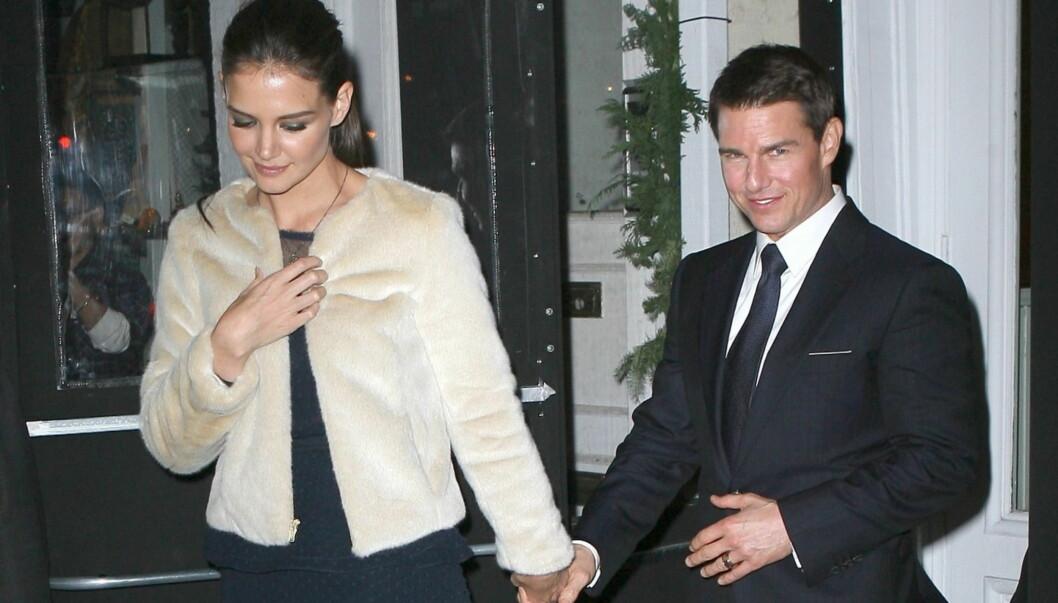 <strong>OPPRETTHOLDT FASADEN:</strong> Katie Holmes og Tom Cruise ville ikke at noen skulle vite om bruddet før de annonserte det selv.  Foto: All Over Press